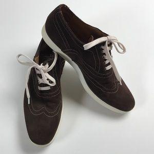 Mike Konos brown suede shoes